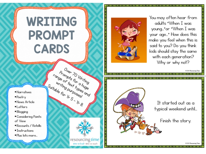 A5 Writing Prompt Cards