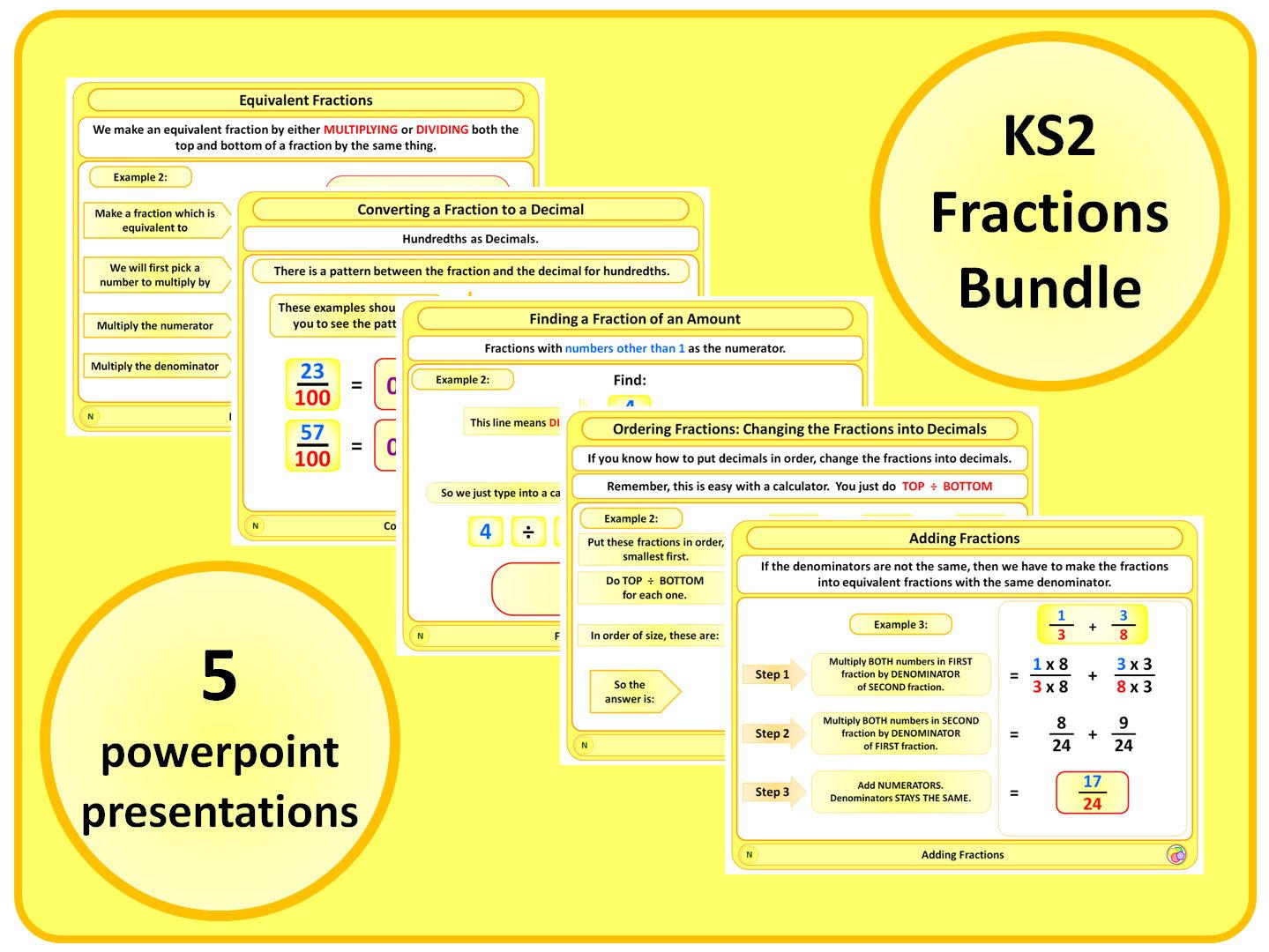 KS2 Fractions BUNDLE