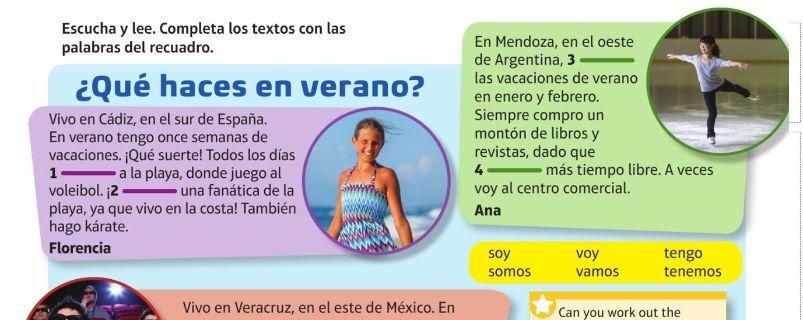 VIVA - green book Module 1 / Vacaciones