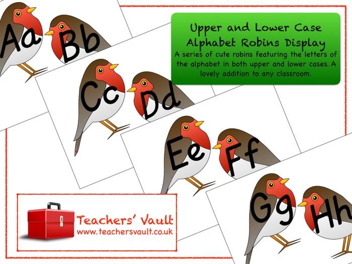 Mixed Case Alphabet Robins Display
