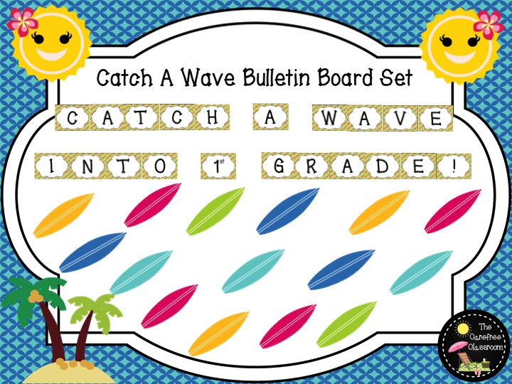 Bulletin Board Set: Catch A Wave Back To School Set