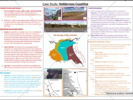 Geography A level Holderness Coast A3 case study poster