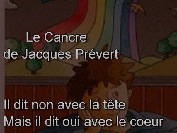 Le cancre de Jacques Prévert