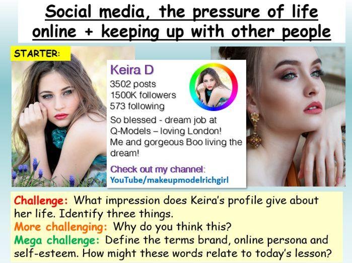 Social Media + Self-Esteem PSHE