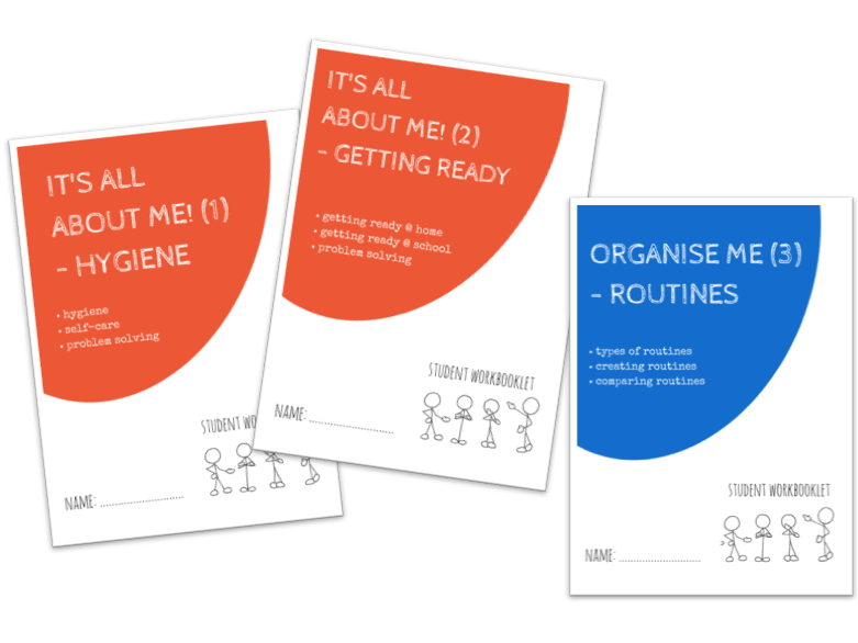 IT'S ALL ABOUT ME bundle - x3 workbooklets HYGIENE, GETTING READY + ROUTINES