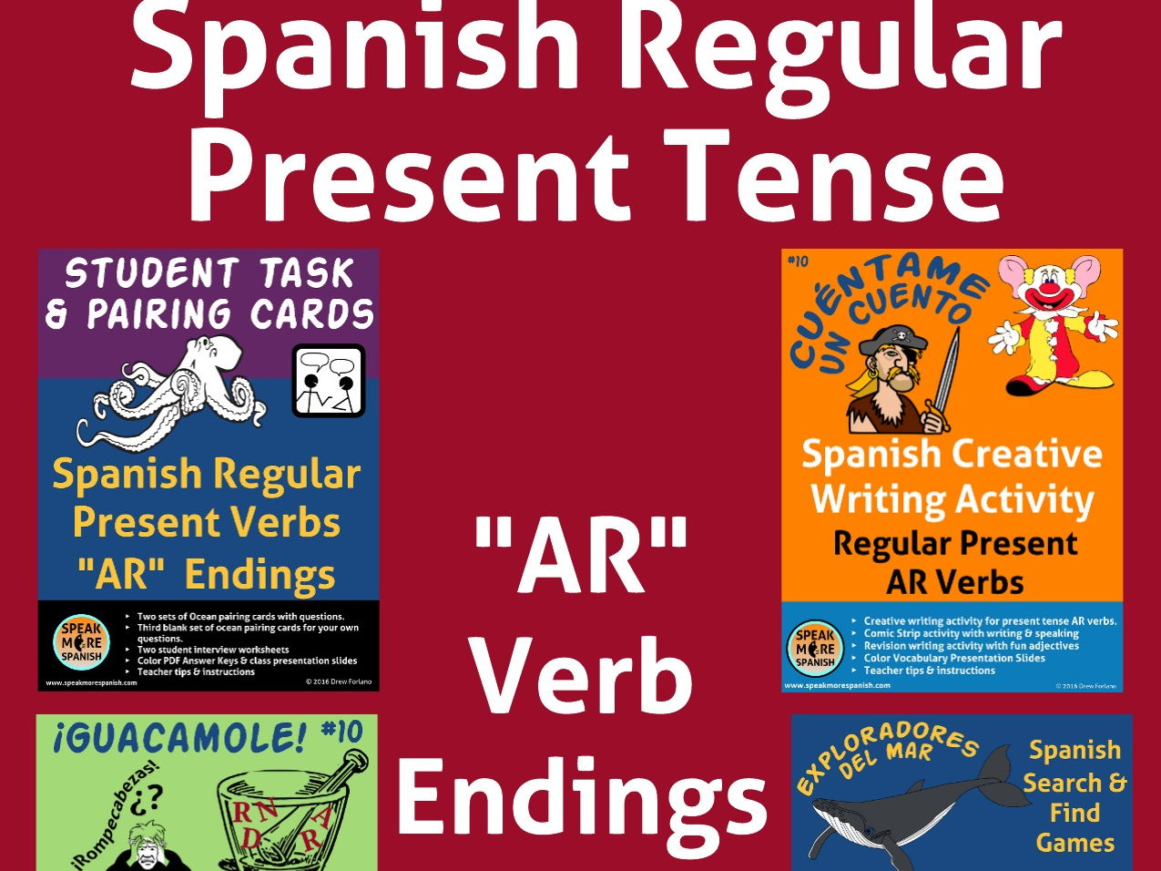 "BUNDLE  Spanish Regular Present ""AR"" Verbs. Verbos Regulares en Español"