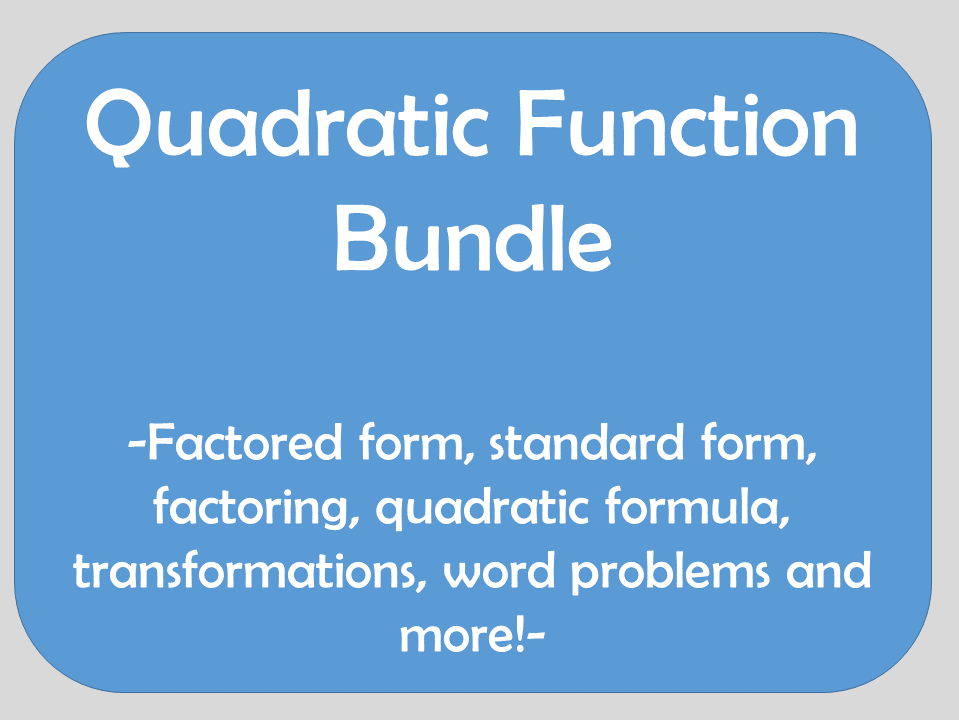 Quadratic Function Bundle
