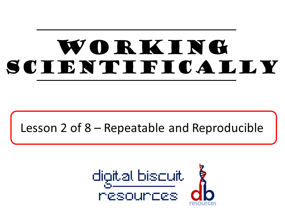 Key Stage 3 - Working Scientifically - Lesson 2 -Repeatable and Reproducible
