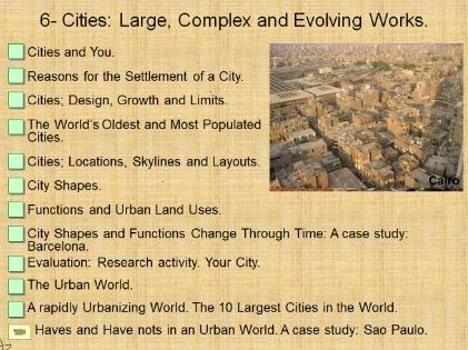 Cities; Large, Complex and Evolving Works