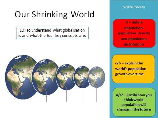 AS Level Geography - Globalisation SOW