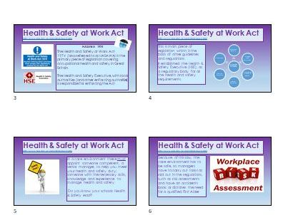 Health & Safety Legislation overview COSHH RIDDOR HASAW Act
