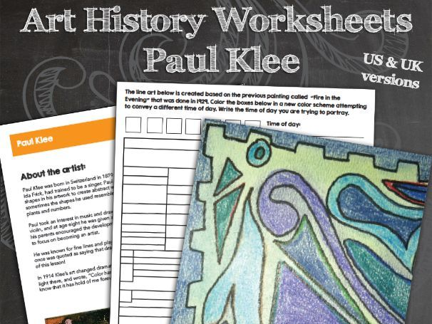 Paul Klee Worksheets and Art Activities