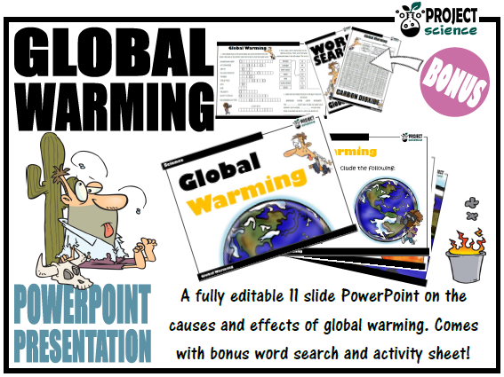 Global Warming PowerPoint and Activity Sheets