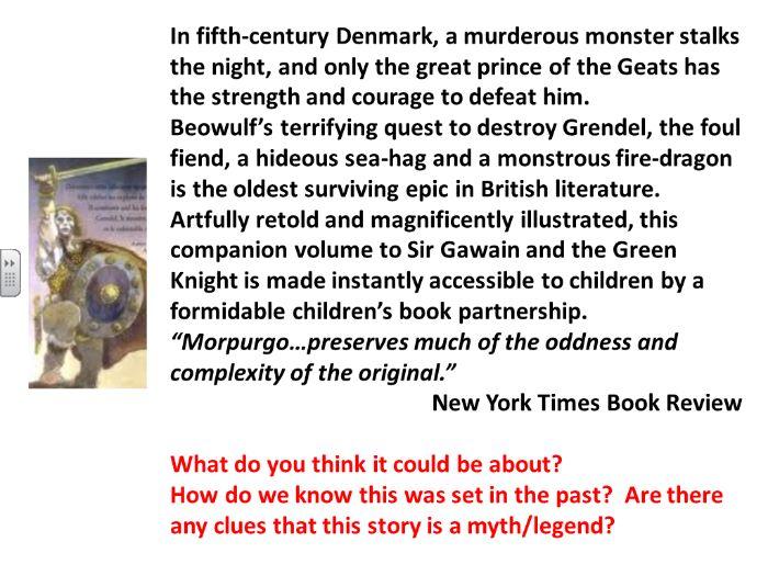 Beowulf Reading Tasks