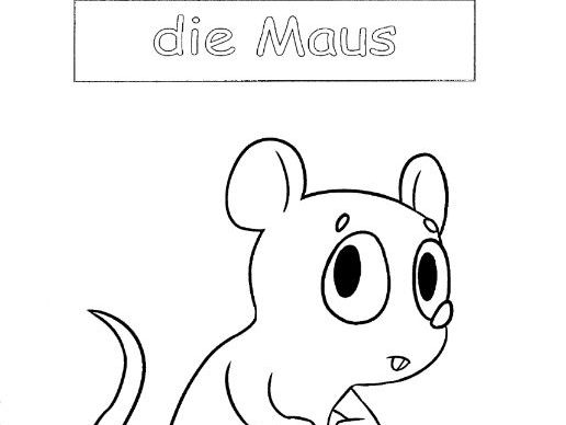Mouse in German - die Maus