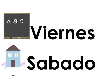 Days of the Week Flashcards  & Wheel [SPANISH ONLY]