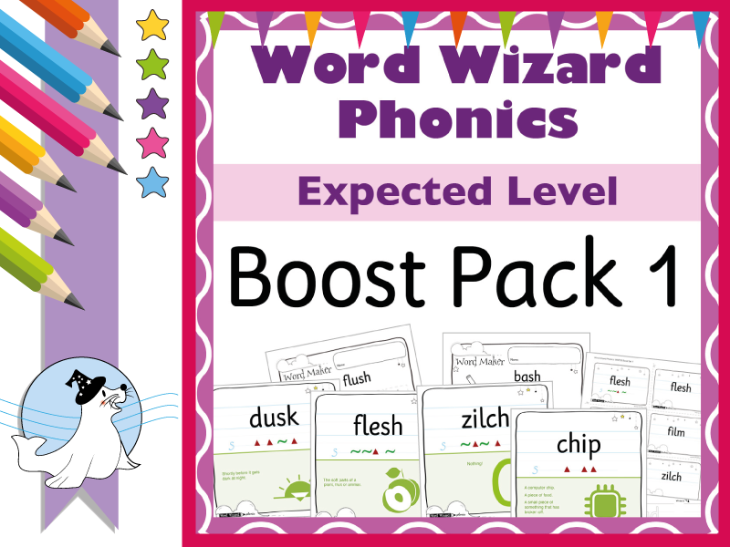 Word Wizard Phonics Consolidation Boost Pack 1