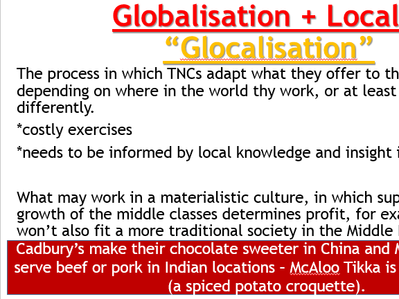 AQA Globalisation - L7 TNCs (Lesson and Resources).
