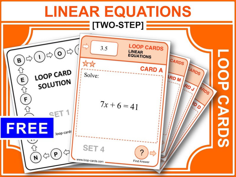 Linear Equations 1 (Loop Cards)