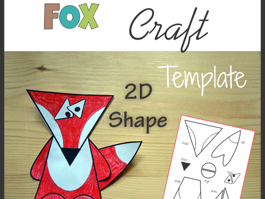 Fox Craft - Template Cut and Paste