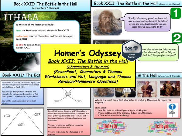 Homer's Odyssey – Book XXII: The Battle in the Hall (characters & themes)