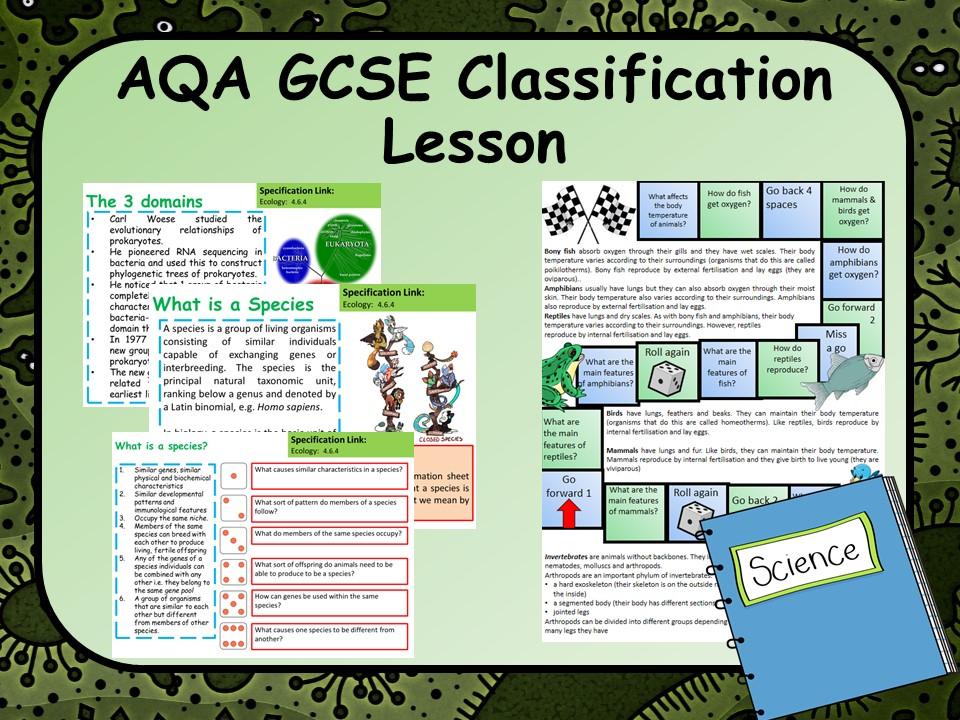 AQA GCSE Classification Lesson