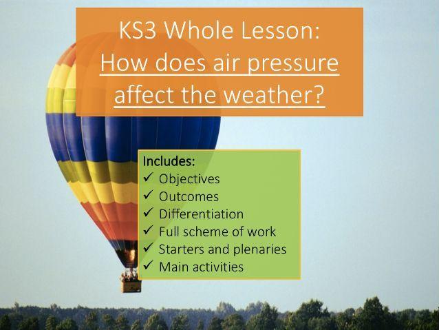 KS3 Air Pressure & Weather - Whole Lesson