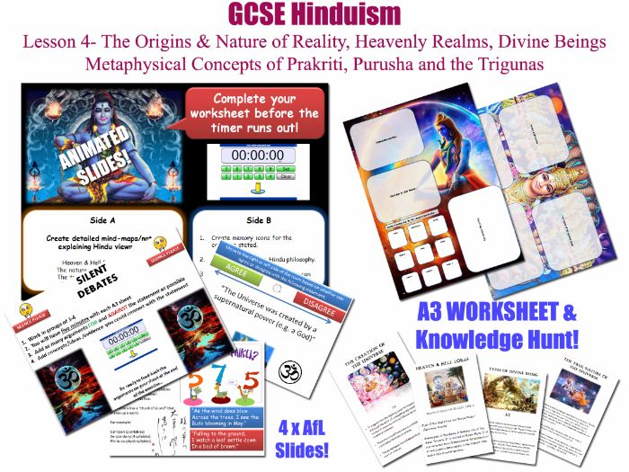 GCSE Hinduism - Lesson 4/20 [Origins & Nature of Reality, Heavenly Realms, prakriti, purusha...]