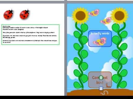 Sunflower phonics.  sets include ay ee igh ow ue families inc split or er Year 1 phonic screen games