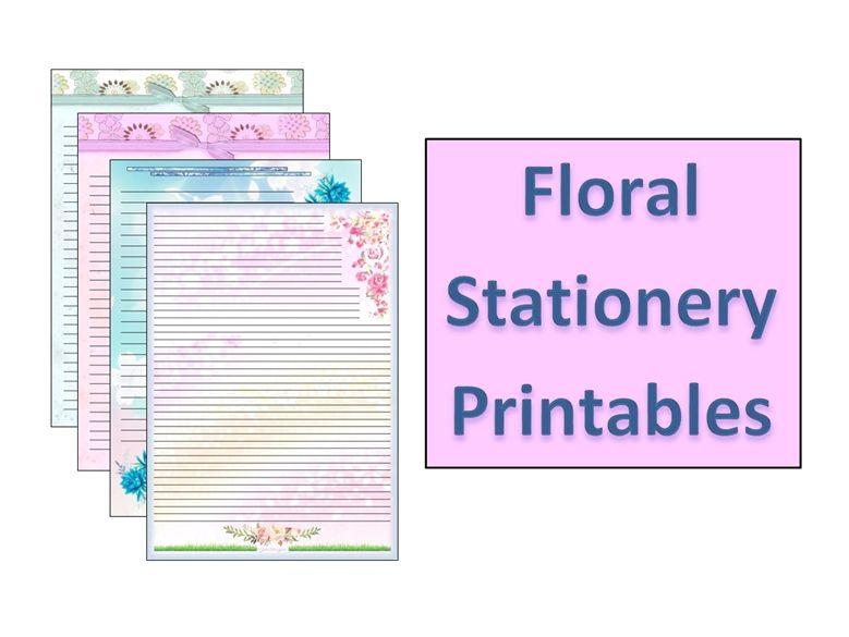 Floral Stationery Printables (Blue & Pink)