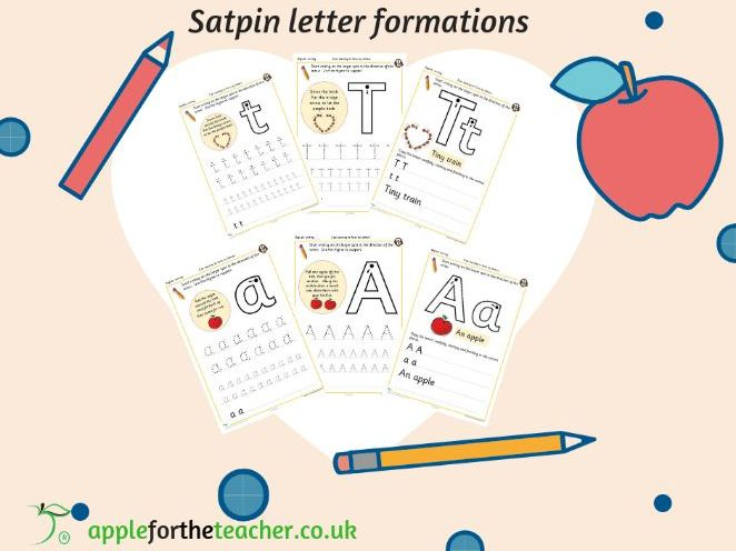 Handwriting Sheets SATPIN with memorable rhymes FREE EYFS KS1