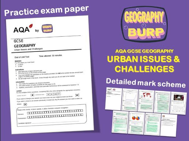 AQA GCSE Geography (9-1) - Practice Exam Paper - Urban Issues and Challenges