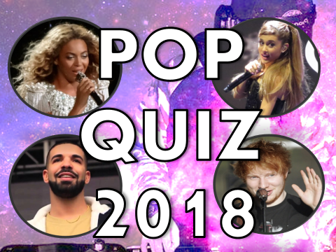 Pop Music Quiz 2018 – activity, lesson, news, end of year, term, presentation