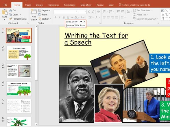 Speech Writing for GCSE