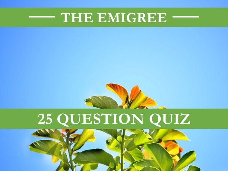 The Emigree Quiz
