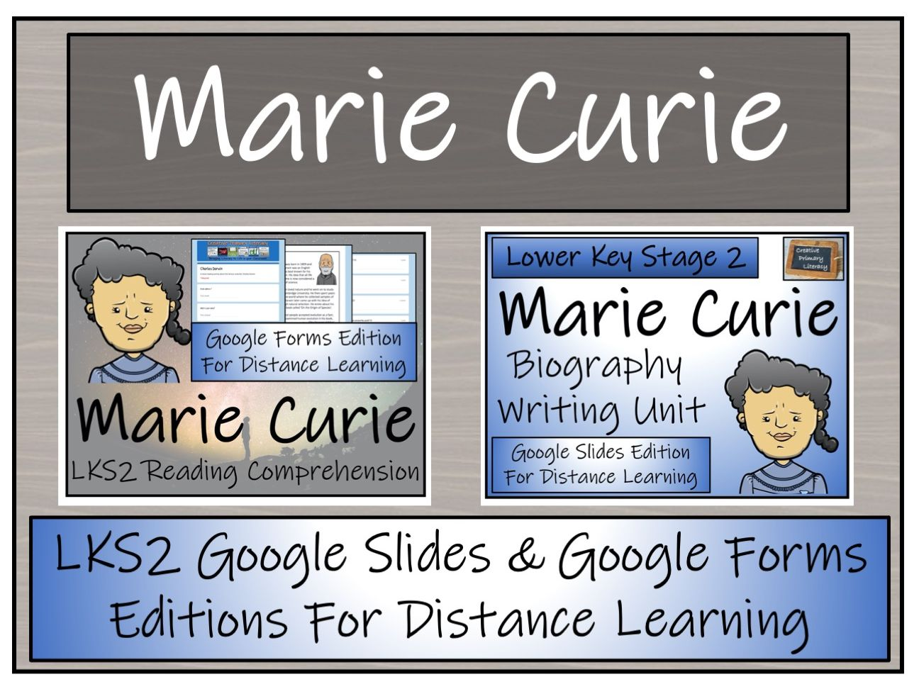 LKS2 Marie Curie Biography & Reading Comprehension Distance Learning Bundle