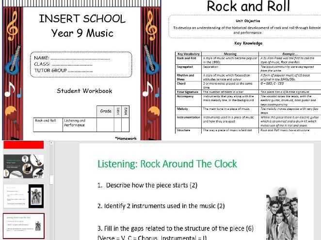 Key Stage 3/4 Music -Rock and Roll SOW