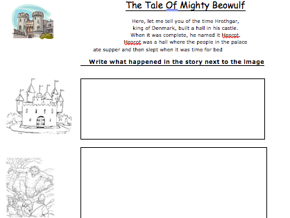 Beowulf summary worksheet