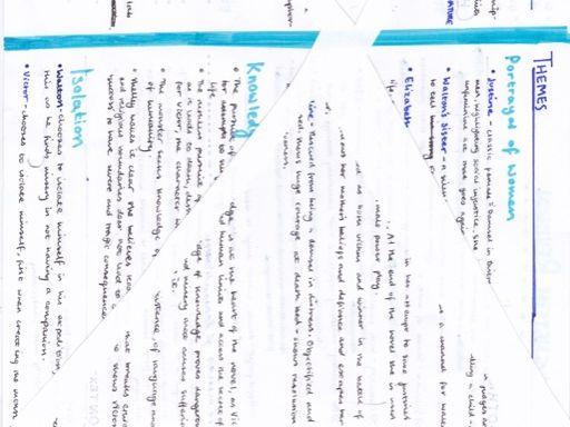 English Lang/Lit Frankenstein Revision Notes