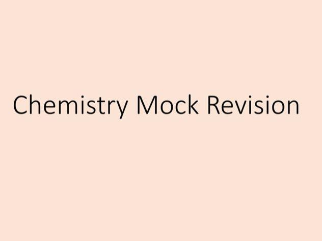 Chemistry revision lesson - past paper questions