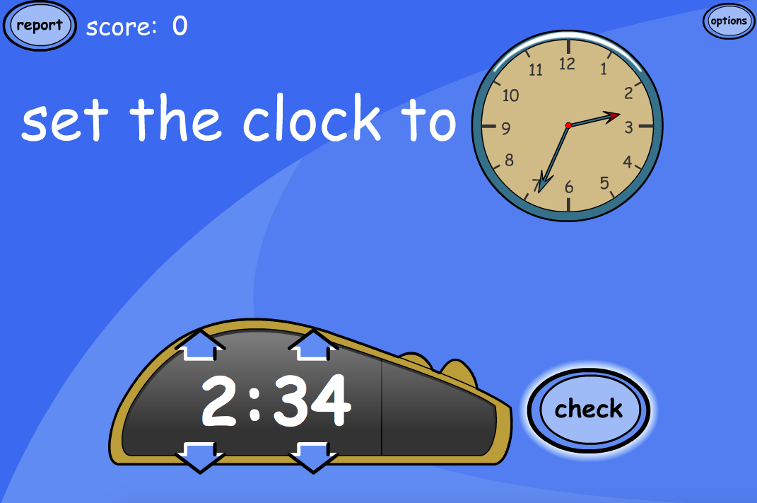 Set the Clock (Digital from Analogue) - Interactive Activity - KS1/KS2 Measurement