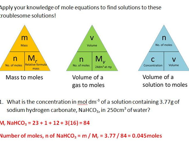 Moles And Solutions Worksheet Finding Solutions To Solutions By