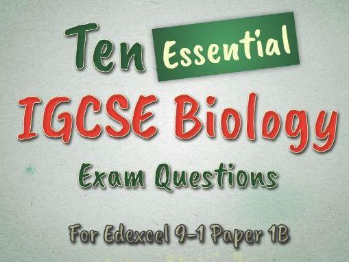 IGCSE Biology 9-1 Revision Questions