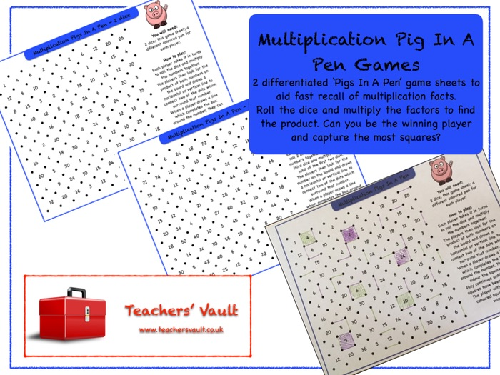 Multiplication Pig In A Pen Games