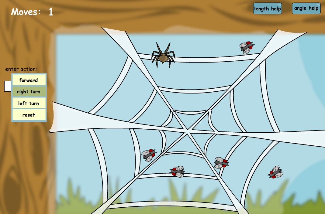 Spider Web Directions - Interactive Activity - KS1/KS2 Geometry