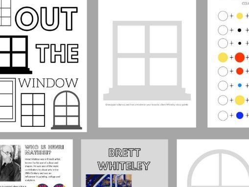 12 Page Colouring & Practical Art Learning From Home Book | Out The Window | Matisse & Whiteley