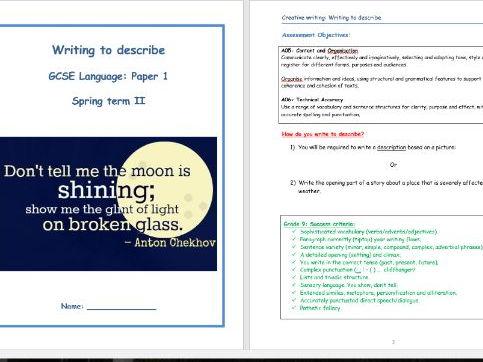 GCSE English Language Paper 1 - Creative Writing Revision