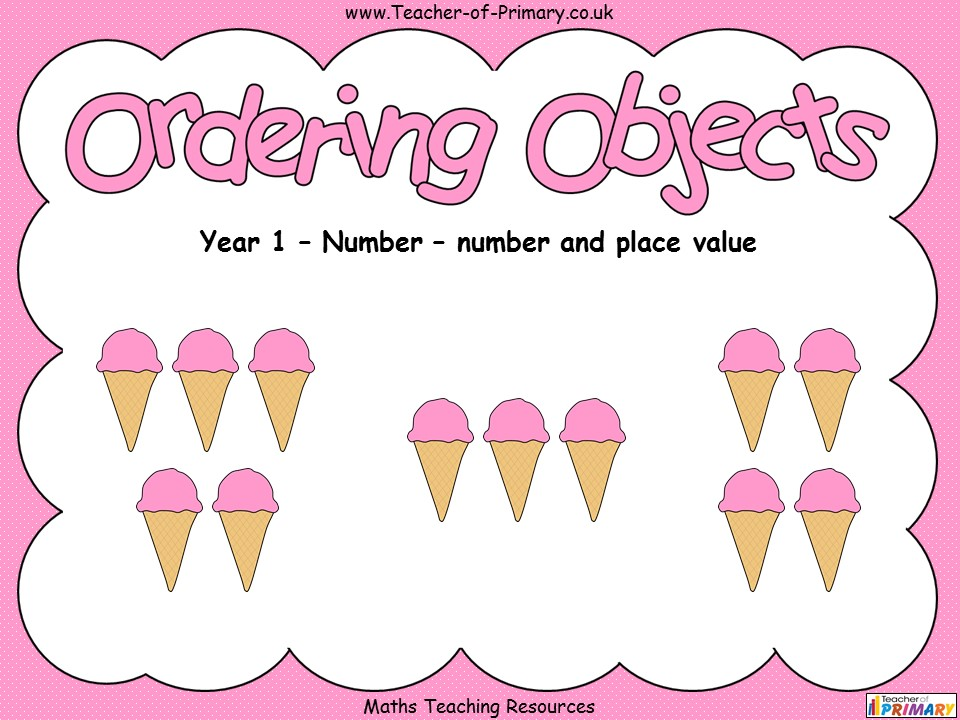 Ordering Objects - Year 1