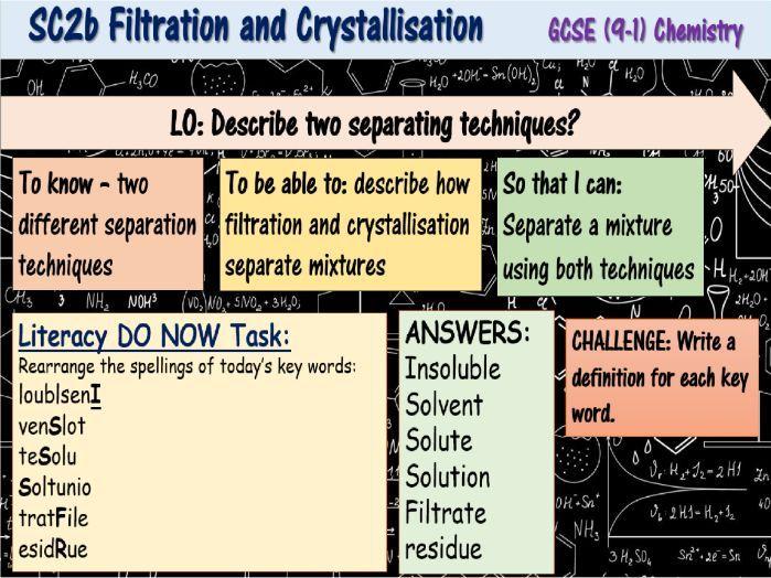Filtration and Crystallisation GCSE (9-1) Chemistry