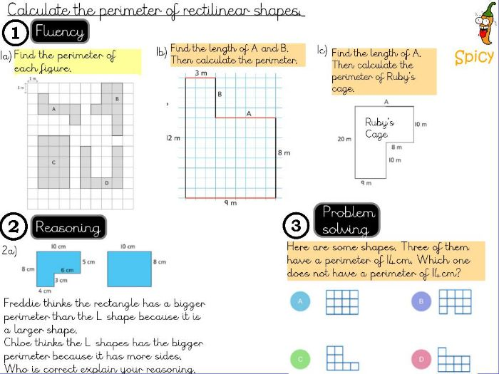 Length and Perimeter- Calculate the perimeter of a rectilinear shape